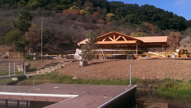 Picnic grounds pavilion should be ready by years end.