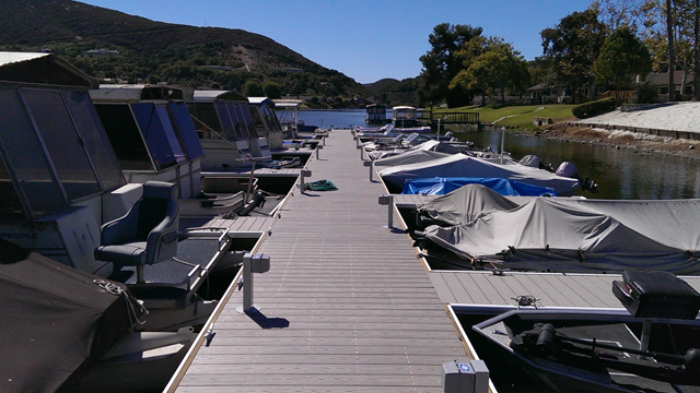 New docks by The Lodge at Lake San Marcos